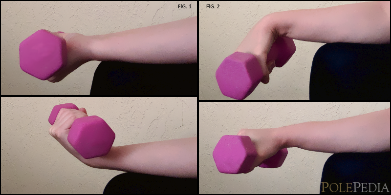 Image illustrating physical therapy exercise steps for tendonitis caused by pole dancing